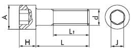 Винт с цилиндрической головкой (с внутренним шестигранником)