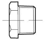 Пробка шестигранная с фланцем