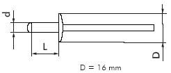 Заклепка  алюминевая забивная (нержавеющая сталь)