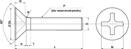 Винт М6 схема