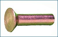 DIN 661 Заклепка с потайной головкой, латунь