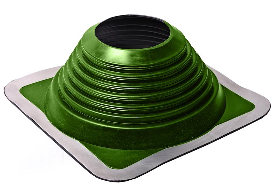 Уплотнитель кровельных проходов, Master Flash Прямой №7, epdm, зеленый