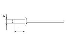 Заклепка тяговая алюминевая (стальной штырь) fmRIVETS