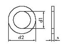 ISO 7092 - Шайба узкая, подкладная