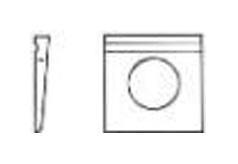 DIN 435 Шайба косая квадратная для двутавров
