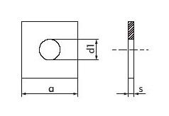 DIN 436 - Шайба квадратная