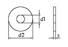 DIN 440 - Шайба плоская/увеличенная