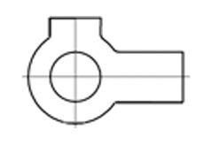 DIN 463 Шайба стопорная с 2 лапками