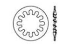 DIN 6797 Шайба зубчатая, форма I - внутренние зубцы