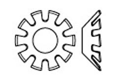 DIN 6797 Шайба зубчатая, форма V - вогнутая