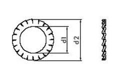 DIN 6798 Шайба стопорная с наружными зубьями