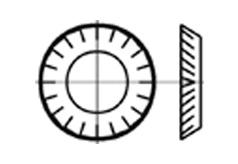 DIN 679 Шайба стопорная, форма V - вогнутая