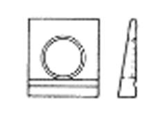 DIN 6917 Шайба косая квадратная клиновая с проточкой (14 Grad), для двутавров