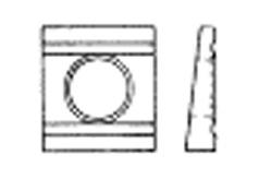 DIN 6918 Шайба косая квадратная клиновая с двумя проточками (8 Grad), для швеллеров