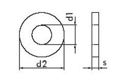 DIN 7349 Шайба для пружинного штифта
