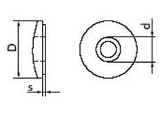 Шайба EPDM с уплотнением, с резиновой прокладкой