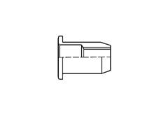 Заклёпка-гайка резьбовая с широким фланцем