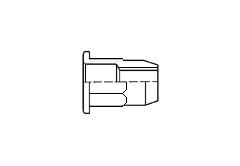 Заклёпка-гайка резьбовая шестигранная с широким фланцем