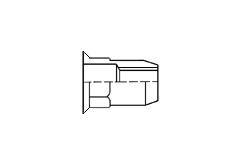 Заклёпка-гайка резьбовая шестигранная с потайным фланцем