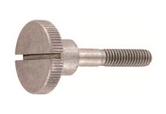 DIN 465 Винт с накатанной головкой (с накаткой), с прямым шлицем, нажимной