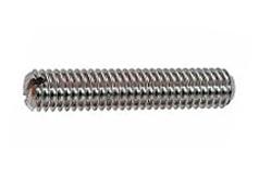 DIN 551 - Винт установочный стопорный с прямым шлицем и плоским концом