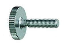 DIN 653 - Винт прижимной с накаткой, низкий, с рифленой головкой