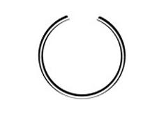 DIN 7993 B Кольцо стопорное пружинное внутреннее, круглого сечения