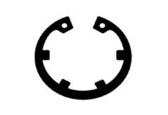 DIN 984 Кольцо стопорное пружинное внутреннее с лапками для отверстия