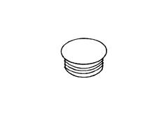 Заглушка для отверстий круглая пластмассовая RACO
