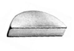 DIN 6888 - Шпонки сегментные