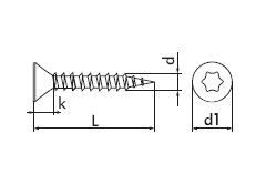Шуруп универсальный с потайной головкой TORX