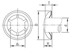 Схема STARLOCK со стальным колпачком